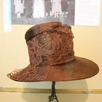 Beaver skin and lace hat