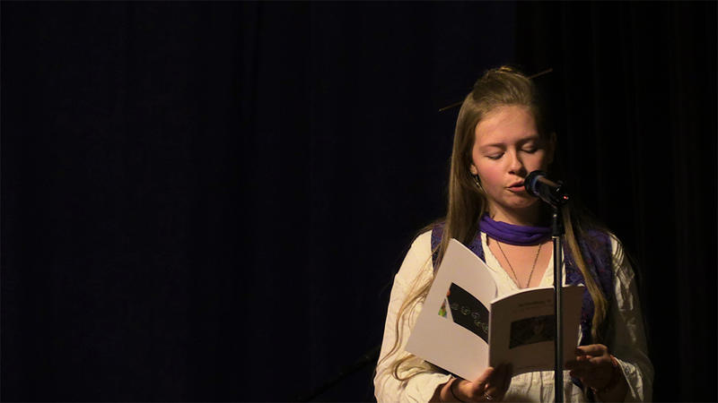 Emily Weatherill, a junior at The Sharon Academy, wrote 'This Is A Dream' at the Young Writers Project's Celebration of Writing last fall with Vermont slam poet champion Geof Hewitt.