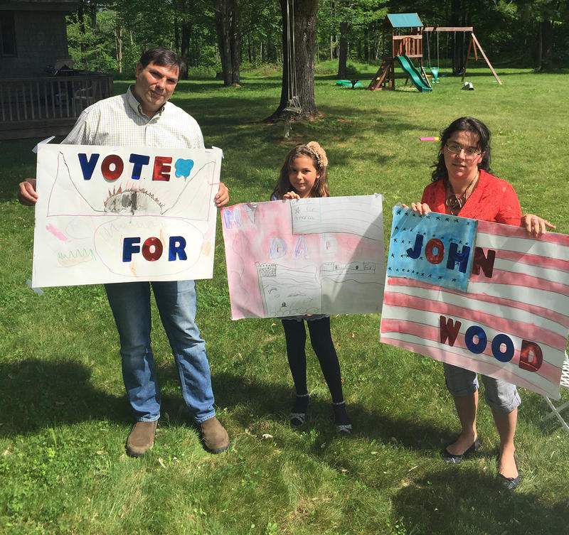 John Wood, of Fair Haven, was inspired to run for president by his daughter Madeline. Brennyn Molloy, a neighbor, is Wood's campaign manager.