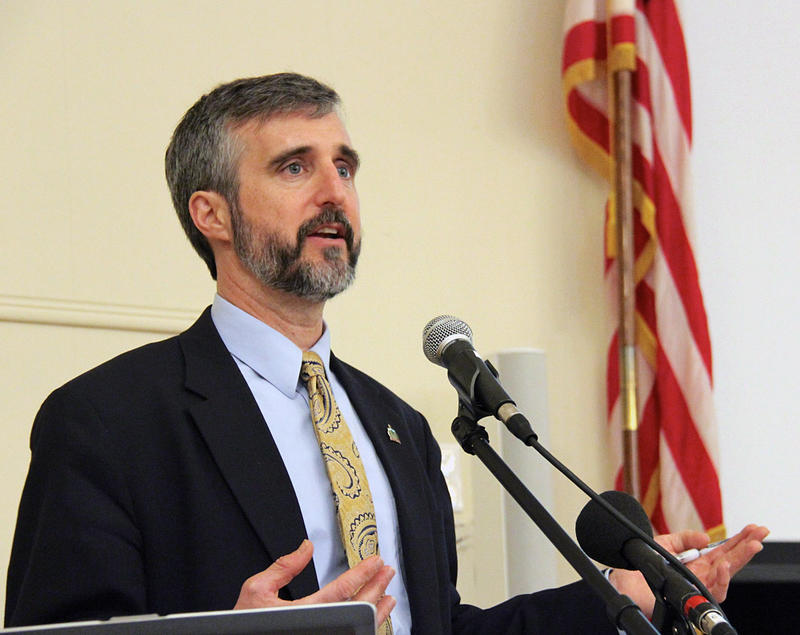 DEC Commissioner David Mears, shown here in 2013, announced his resignation on Thursday morning. Mears will be returning to Vermont Law School to teach.
