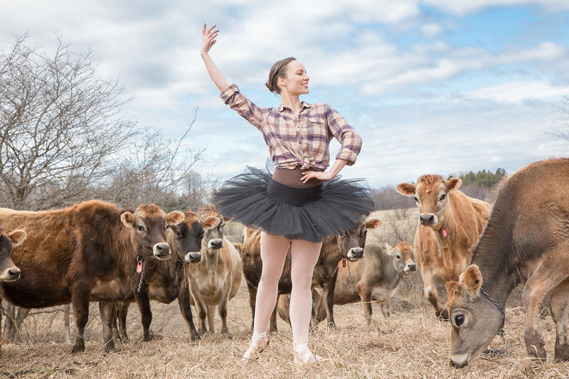 Megan Stearns is the principle dancer in 'Farm To Ballet,' playing the lead farmer. The outdoor performance is set on different farms throughout the state and tells the story of a farm from spring to fall.
