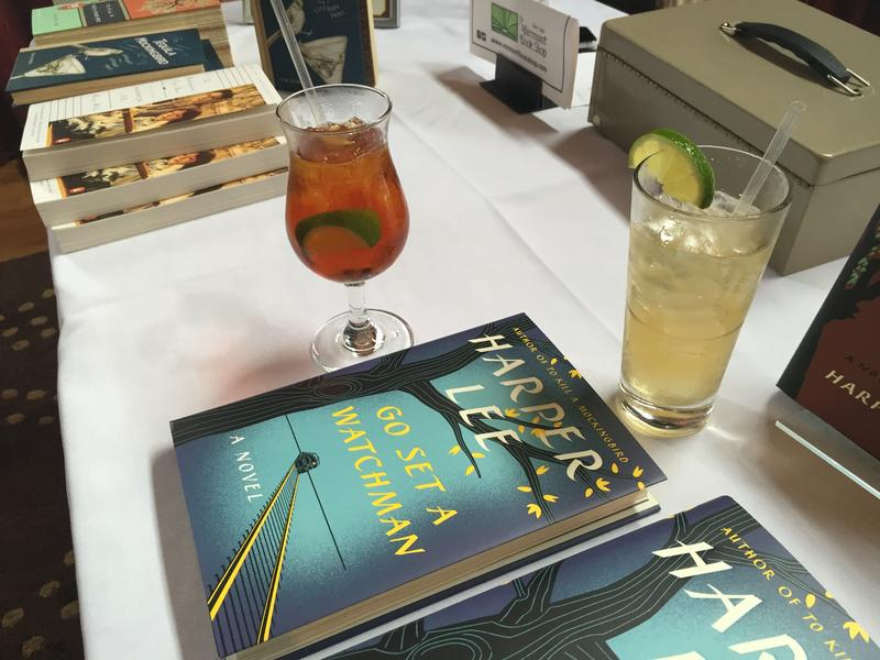 "The Vermont Bookshop in Middlebury hosted a ""Tequila Mockingbird"" happy hour at a local bar to celebrate the release of Harper Lee's second novel, ""Go Set A Watchman."""