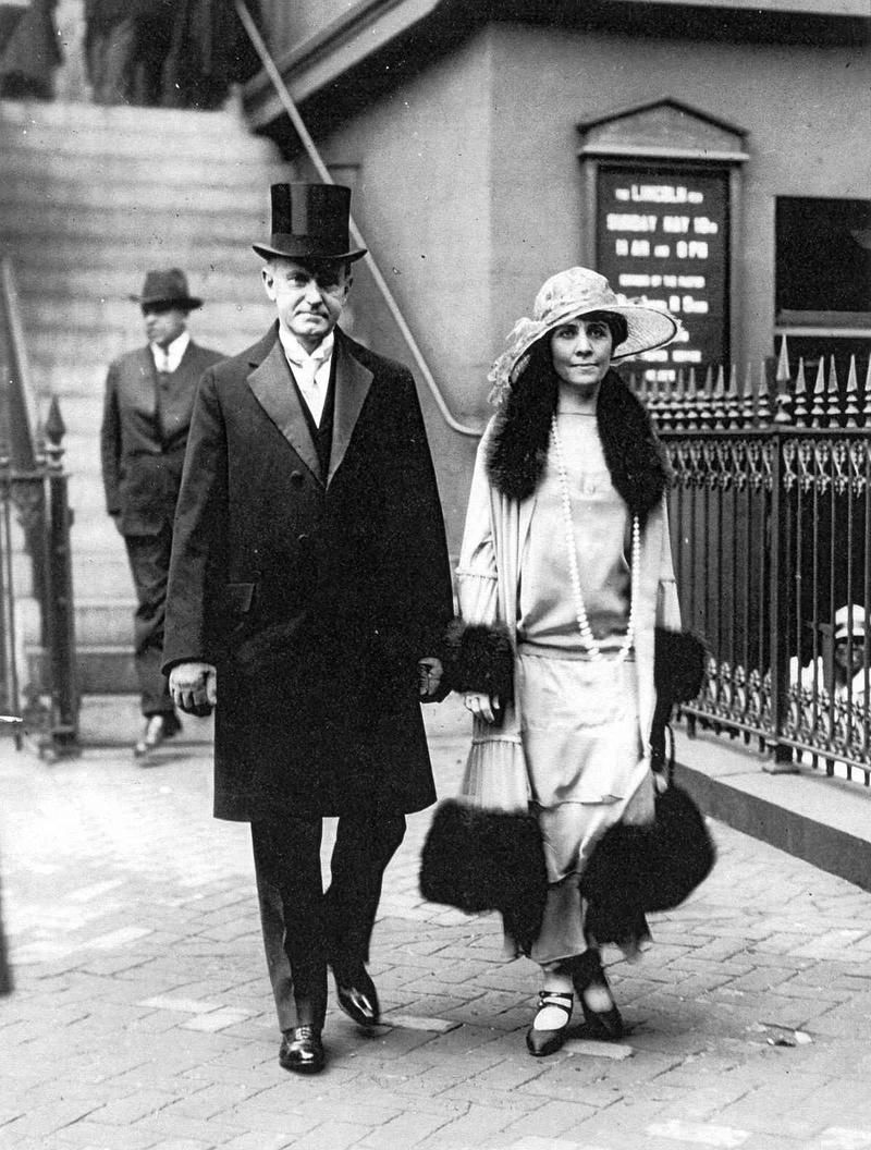 Fashionable First Couple, Calvin and Grace Coolidge