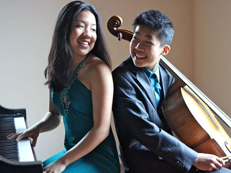 Siblings Silvie and Bryan Cheng visit the Performance Studio this Friday.