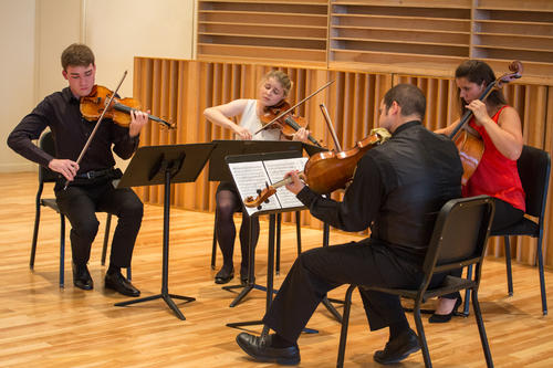 Members of the Lake Champlain Chamber Music Festival's Young Quartet.