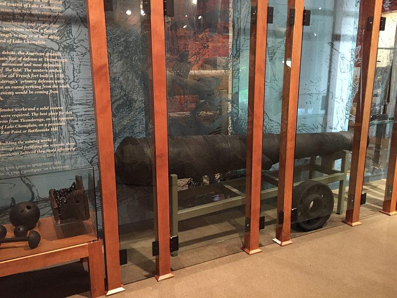 This Revolutionary-era cannon was pulled from Lake Champlain in the 1990s.