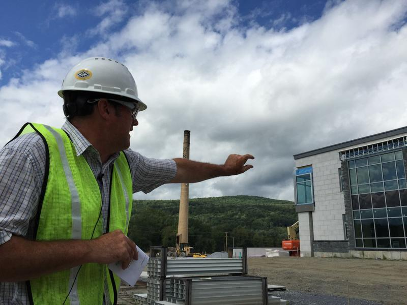 When this picture of project administrator Mike Stevens was taken nearly two years ago, work was about 90 percent complete at the state office complex in Waterbury.