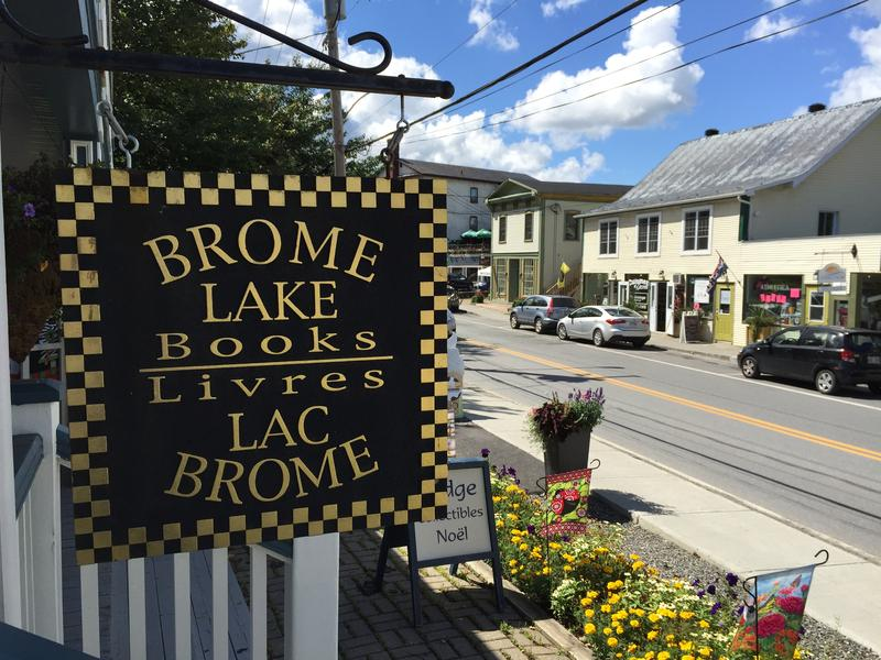 The exterior of Brome Lake Books is pictured in Knowlton, QC. Brome Lake Books was the inspiration for Myrna's Bookstore, a major setting in Louise Penny's Chief Inspector Gamache series.