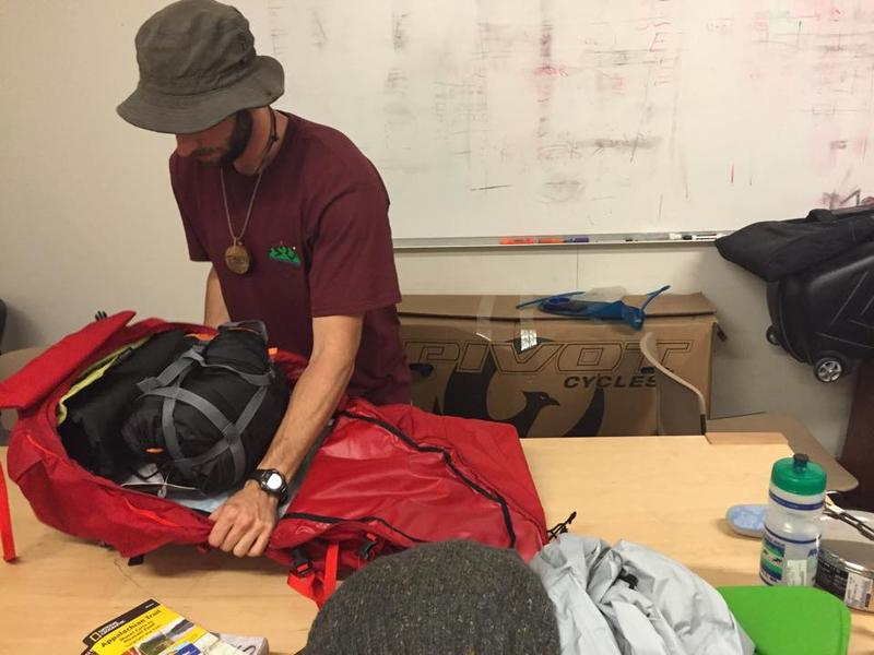 Eben Coenen of Outdoor Gear Exchange in Burlington demonstates how to properly pack a backpack for an overnight trip into the backcountry.