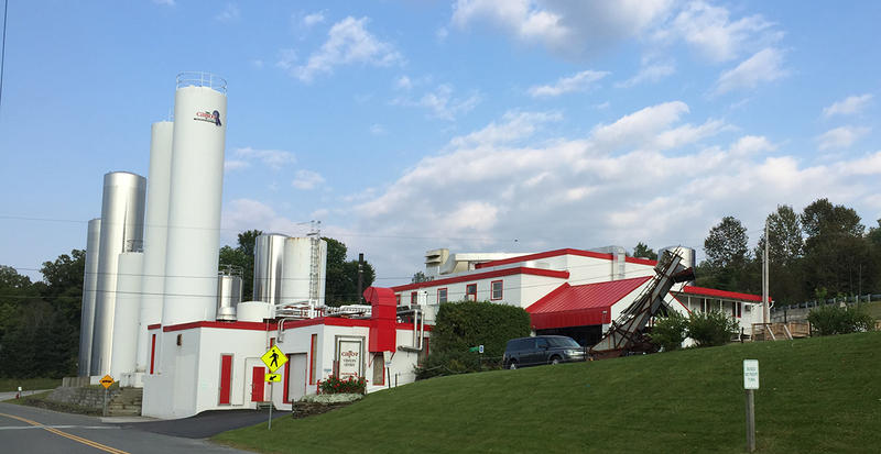 Cabot Creamery has no way to treat its wastewater at its Cabot facility, so it is stored in silos on-site then trucked to be sprayed on fields and injected into manure pits in 33 Vermont towns.