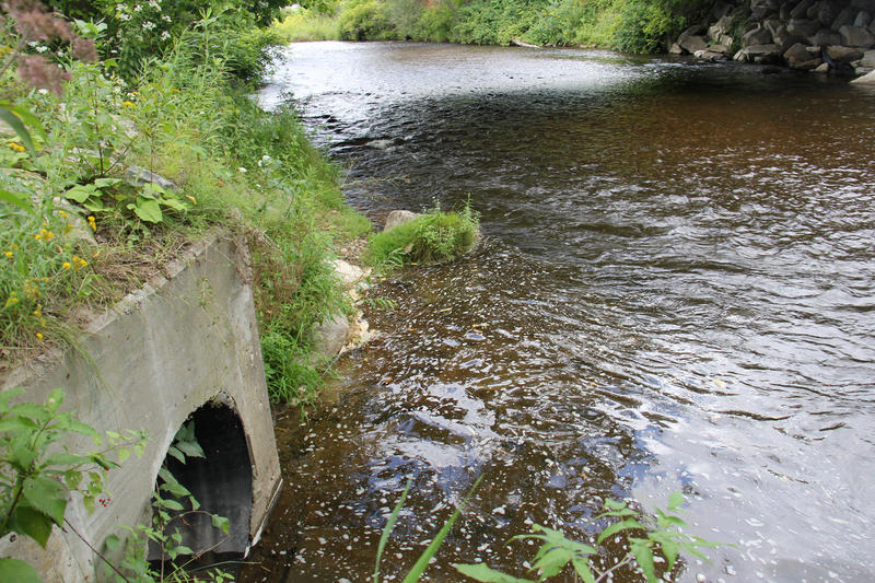 Rutland is one of more than a dozen Vermont municipalities with a combined sewer system. When the city's water treatment system is overloaded, untreated sewage and runoff flows out of this pipe into a local creek.