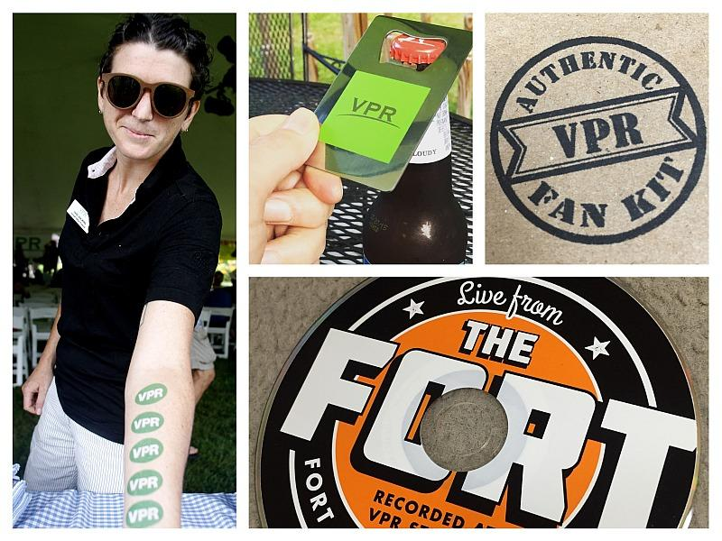 "A few items in the new VPR Fan Kit (former ""Vermont Edition"" producer Sage Van Wing not included)."