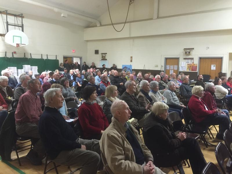 More than 100 people came out to a meeting Monday to listen to details of a proposed commercial wind project for Grafton. Iberdrola Renewables wants to put eight turbines there, and 20 in neighboring Windham.