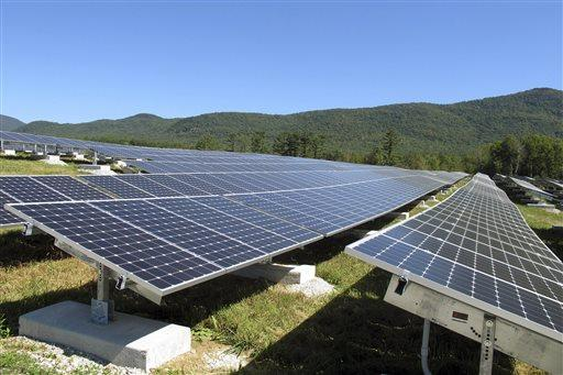 The Stafford Hill solar project in Rutland. The bill would give communities a greater voice in the siting process for renewable projects but critics say it is at the cost of the state's green energy goals.​