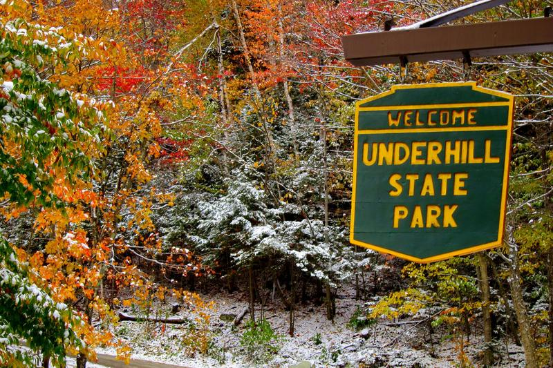 Outdoor Radio this month takes place at Underhill State Park, where the colors are vibrant in the snow.