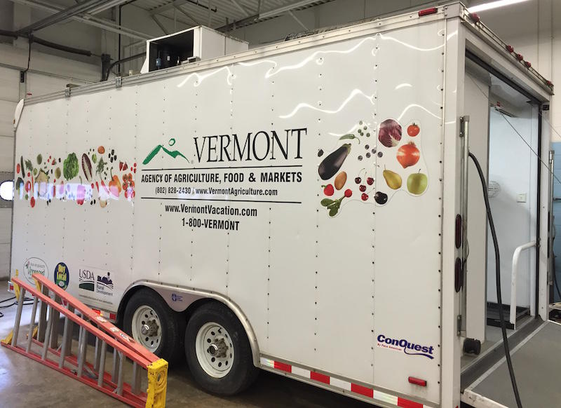 The Agency of Agriculture built the mobile flash freezer in 2008. It will now be used by Middlebury's Patricia A. Hannaford Career Center, which is also working on a mobile processing unit.