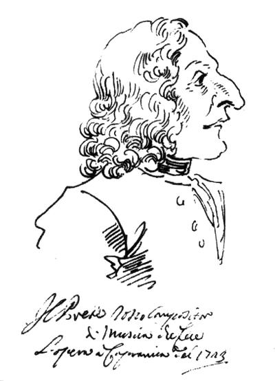 Caricature, Antonio Vivaldi