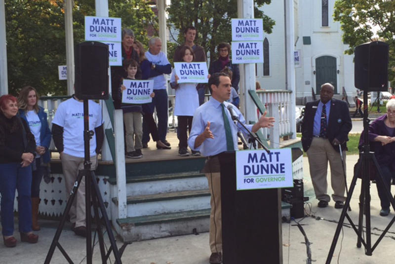 Matt Dunne, campaigning in Fall 2015.
