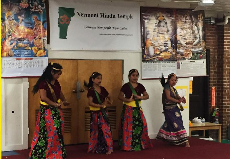 Throughout the afternoon, Vermont Hindu Temple presented a variety of cultural programs featuring music and dance as part of their Durga Pooja celebration.