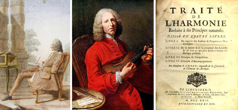 French composer Jean Phillippe Rameau sought to understand music, and specifically harmony, in scientific terms.
