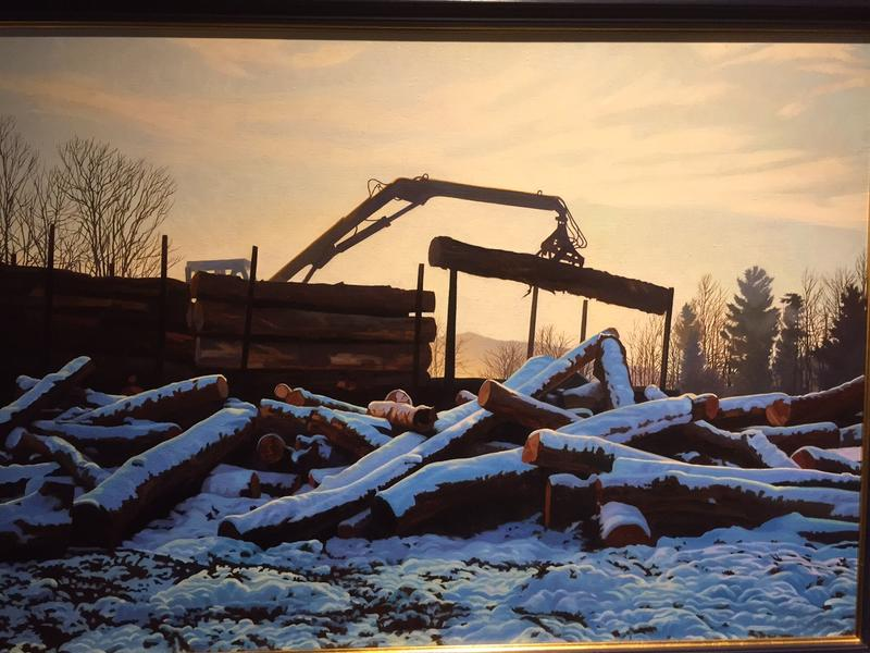 "Painter Kathleen Kolb's exhibit ""Shedding Light on the Working Forest"" urges viewers to consider Vermont's forest industry."