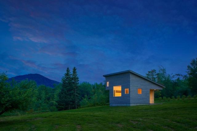 Micro House At Dusk