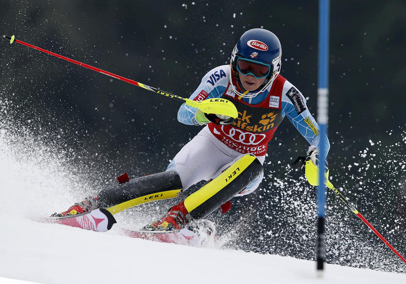 Burke Mountain Academy alumna Mikaela Shiffrin, shown here at the 2015 World Cup finals in Meribel, France, will be one of the women who will be racing in Killington in November 2016 when Killington Resort hosts two Women's World Cup events.