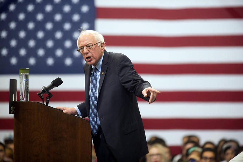 Bernie Sanders, speaking to college students at George Mason University on Thursday, said he wants to empower state governments to handle marijuana policy the way they see fit.