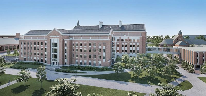An architect's rendering shows a Science, Technology, Engineering and Math center at the University of Vermont, one of many new initiatives to be funded by a $500 million capital campaign announced October 2.