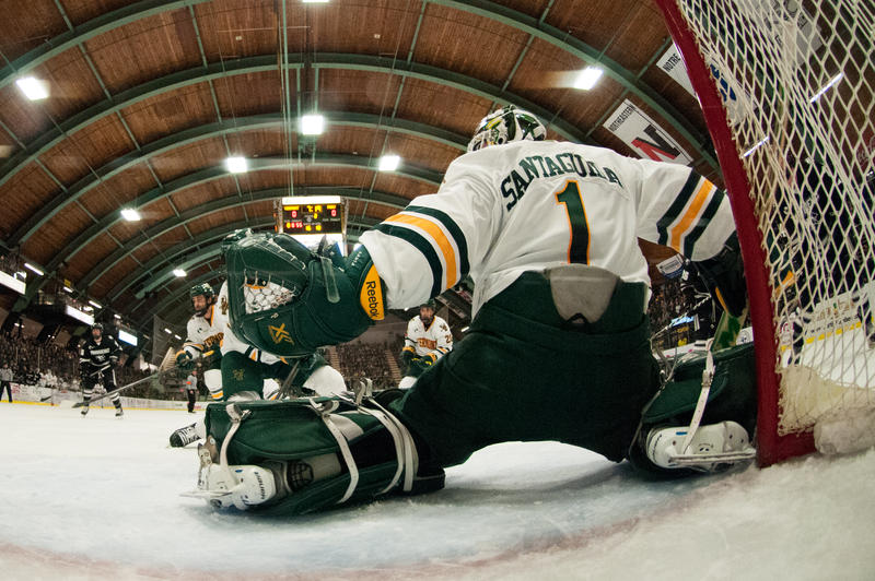 UVM's goalie defends the net. Here's a look at what fans can look for on the ice this winter.