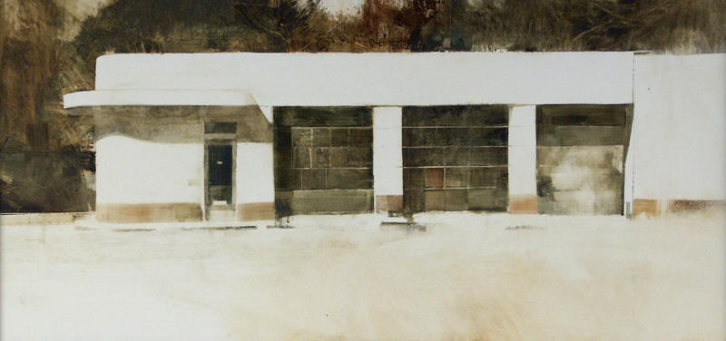 """""""Abandoned Gas Station,"""" by Charlie Hunter."""