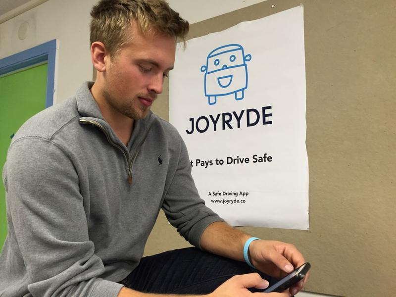 Terry Goguen came up with the idea for JoyRyde as a result of his own distracted driving experience.