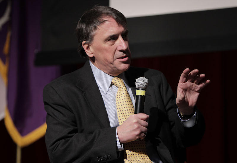 Former Windham Senator Peter Galbraith, seen here at an event in Feb. 2011, says the current slate of Democratic Gubernatorial candidates is lacking a true progressive voice.