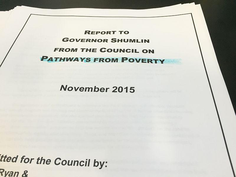 The Council on Pathways from Poverty presented their report to Governor Shumlin recently.