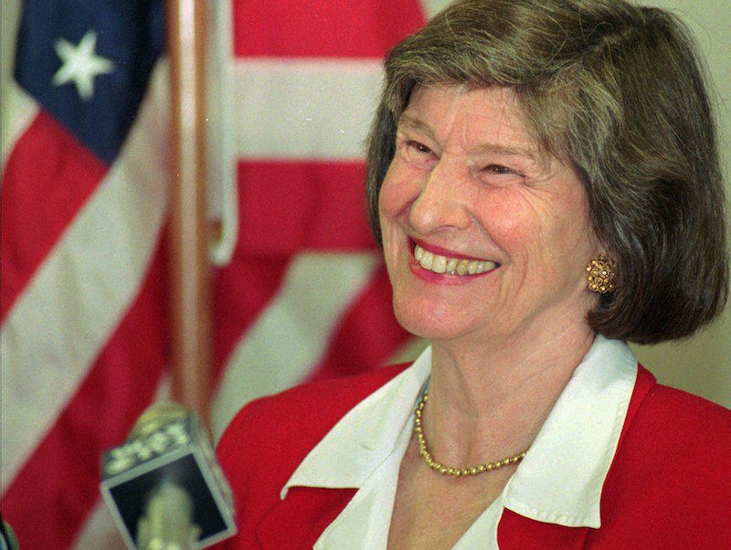 Former Lt. Gov. Barbara Snelling, shown here in Nov. 1995, passed away Monday at age 87.