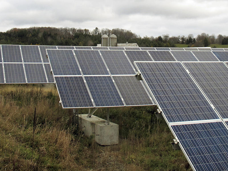 Solar panels on the McKight Farm in East Montpelier are part of one of the many net metering projects across the state that sell customer-created power back to utilities. Now, utilities have reached a 15 percent cap on the amount of power they can take.