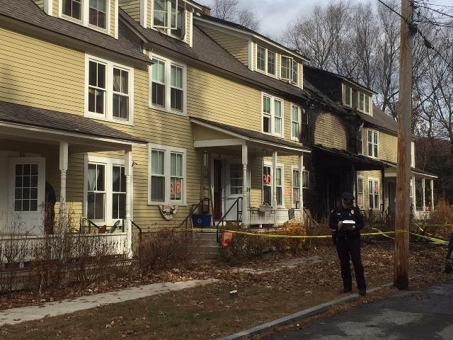 The Brattleboro Fire epartment says a fire  that displaced 45 people has been determined to be suspicious in  nature.