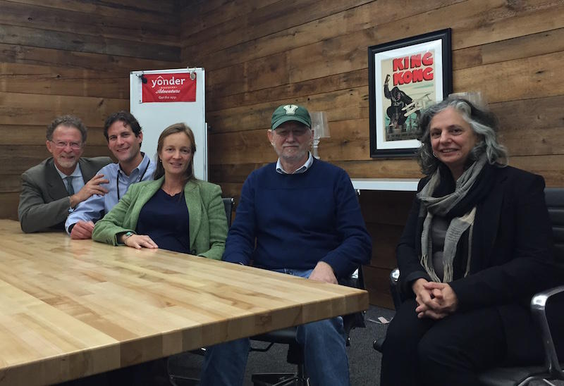 The co-founders of the Phytoscience Institute, Willy Cats-Baril, Dr. Kalev Freeman, Monique McHenry, Tom Grace and Robin Grace, from left, say they started the firm to improve medical cannabis research. The institute won a license to open a dispensary.