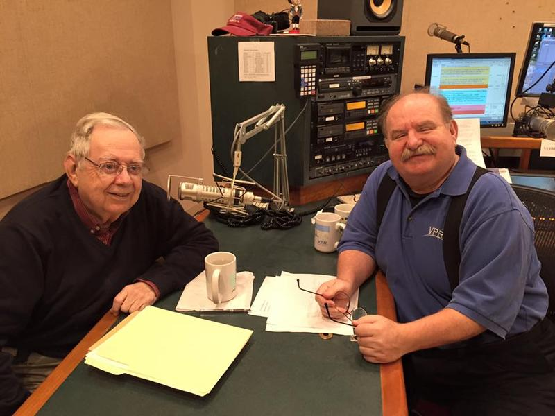 William Metcalfe (left) with Walter Parker in the VPR Classical studio.
