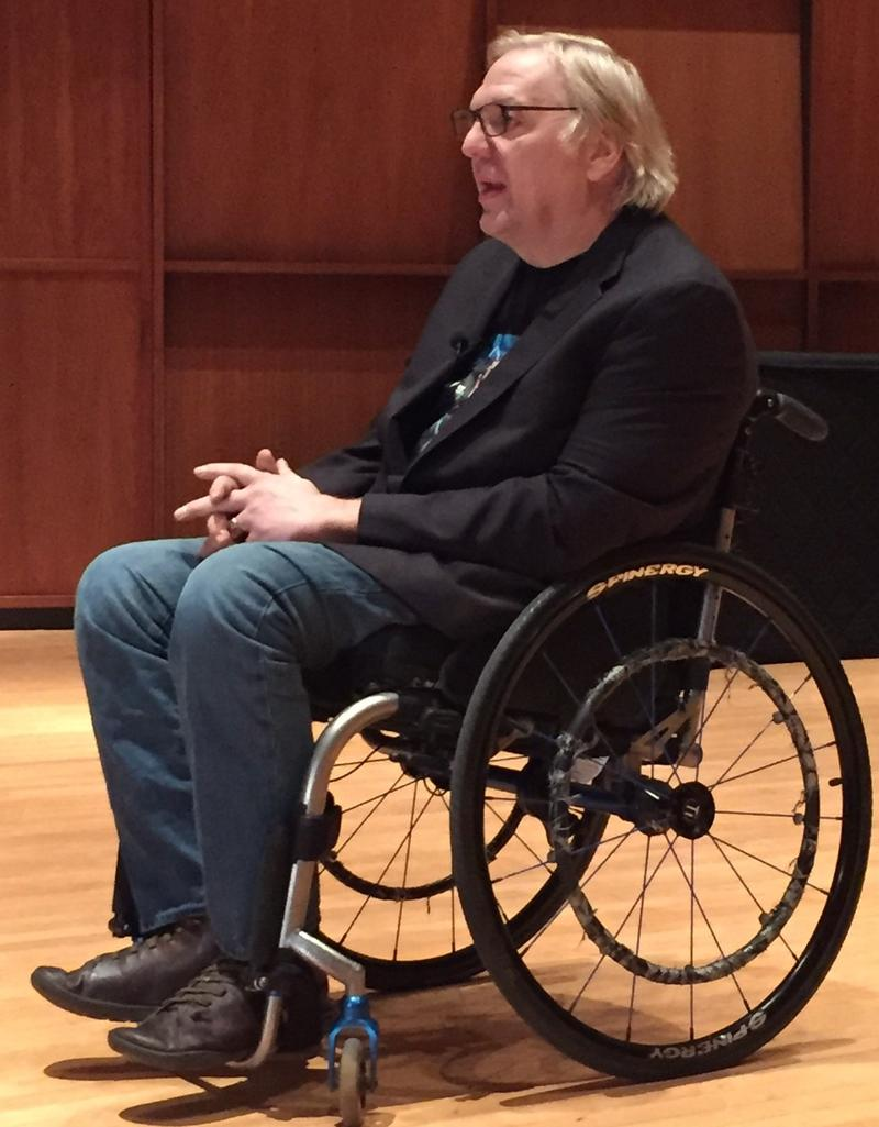John Hockenberry, host of The Takeaway, spoke at St. Michael's College on November 4.