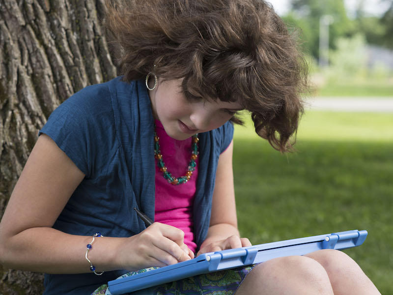 The Burlington-based E.A.S.Y. is creating tools to help people who are blind, like 11-year-old Abby Duffy, draw easily and affordably.
