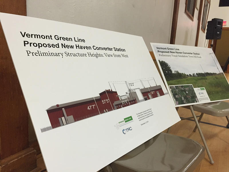 A survey in New Haven has supported the construction of a converter station for a underwater power line. The Vermont Green Line has notified towns that they will file for regulatory approval.