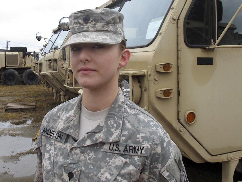 The Vermont National Guard's Skylar Anderson, who is also a pre-vet student at UVM, recently became the nation's first female combat engineer.