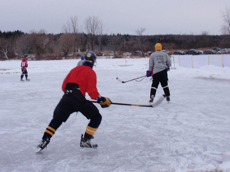 Pond hockey is just one of the ways Vermonters enjoy the sport.