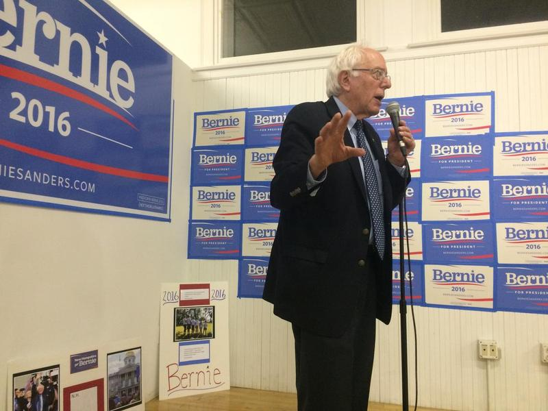 Sanders cheers on his troops last week at a the opening of the Rochester campaign office. The information at the center of the DNC data breach could make a huge difference in an already tight race to win the New Hampshire primary.