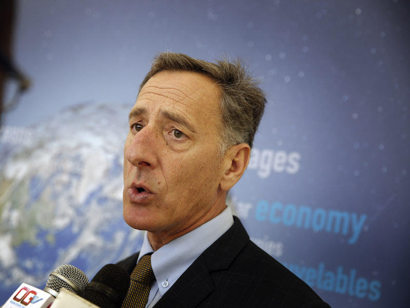 While participating in a panel discussion as part of the UN international climate conference in Paris, Gov. Peter Shumlin was interrupted by Vermonter Aly Johnson-Kurts, who was protesting the Vermont Gas pipeline.
