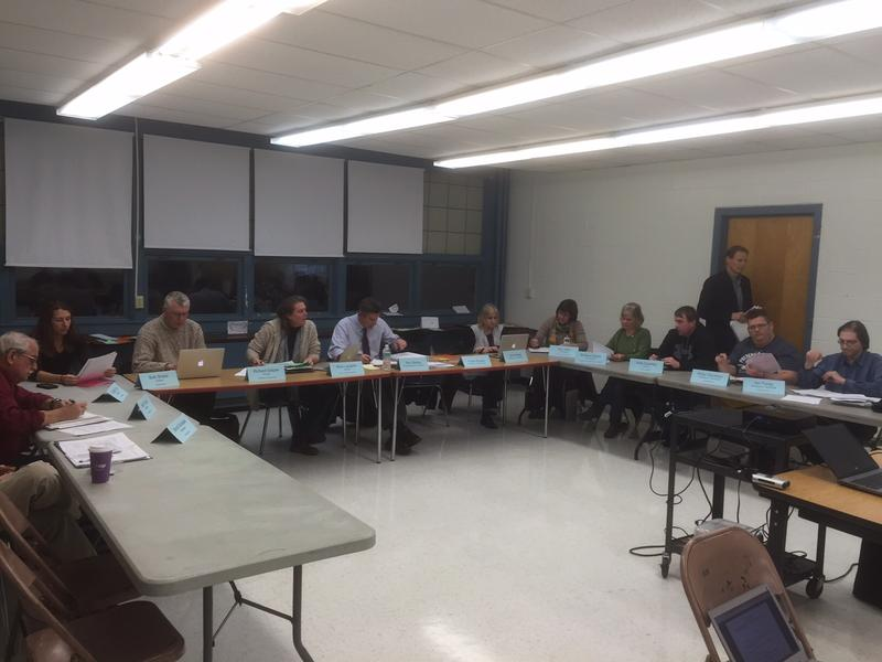 Representatives from the five towns in Windham Southeast Supervisory Union met to talk about an accelerated merger under Act 46, the state's school consolidation law.