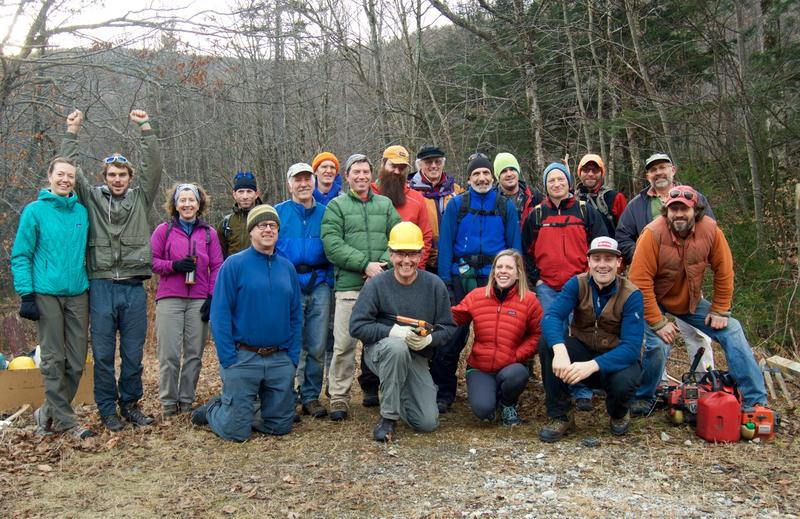 Nearly two dozen volunteers spent a recent Saturday doing trail work near the Brandon Gap as part of a new pilot program run by the Green Mountain National Forest. The goal is to curb unsanctioned trail clearing as backcountry skiing grows in popularity.