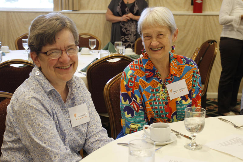 Sisters Ann Mallett and Marcia Gustofson.