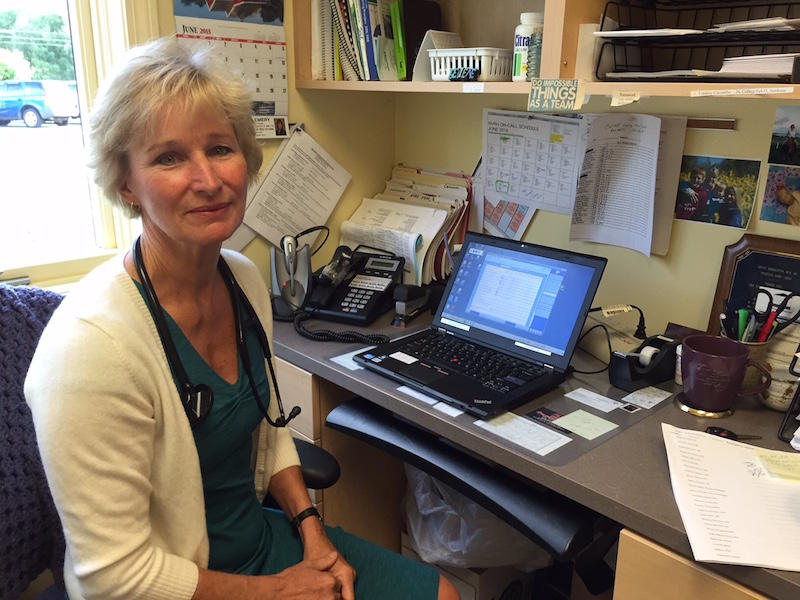 Joyce Dobbertin, a physicial at Corner Medical in Lyndonville has advocated going digital for over a decade, but concerns over patient care and functionality have left other medical professionals skeptical.